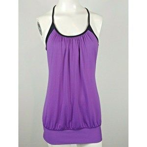 Lululemon No Limits Tank Topmpurple black Bra Sz 6